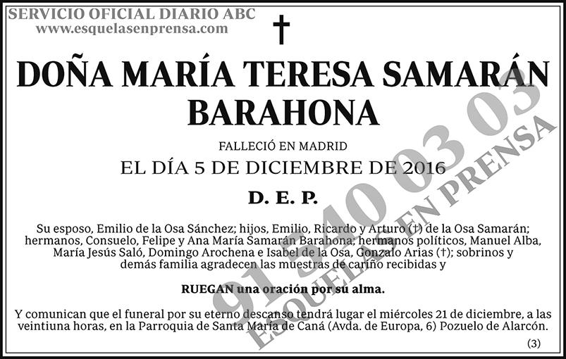 María Teresa Samarán Barahona